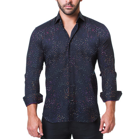 Fibonacci Dress Shirt // Celebration Black (S)