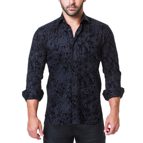 Fibonacci Dress Shirt // Raised Black (S)
