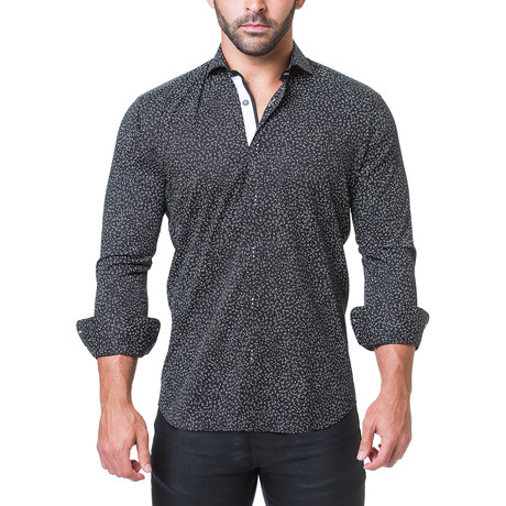 Einstein Abstract Dress Shirt // Black (S)