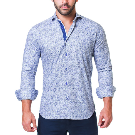 Einstein Ecrito Dress Shirt // Blue (S)