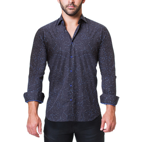 Fibonacci Dress Shirt // Constellation Blue (S)