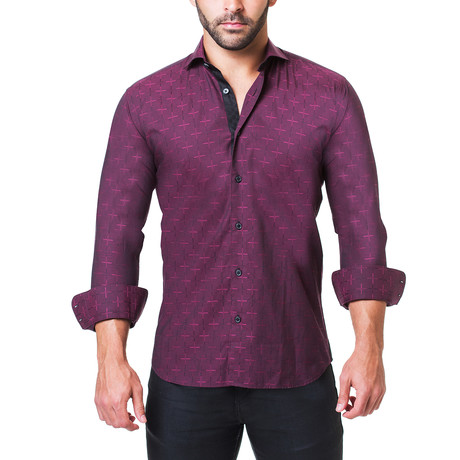 Einstein Edge Dress Shirt // Red (S)