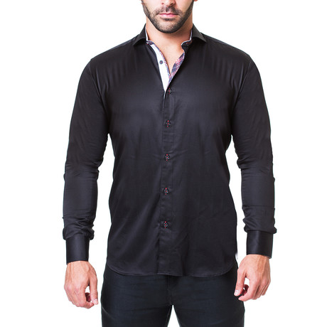 Einstein Dress Shirt // Satin Black (S)