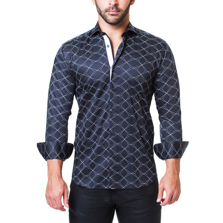 Einstein Dress Shirt // Scale Black (S)