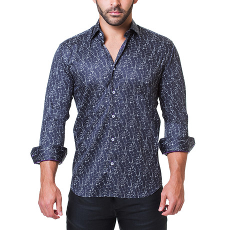 Fibonacci Dress Shirt // Marble Black (S)
