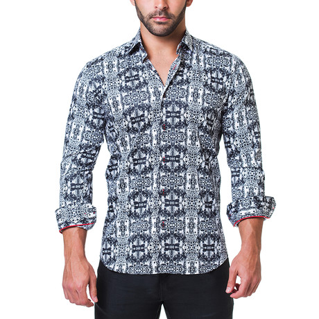 Fibonacci 3Dcards Dress Shirt // Black (S)