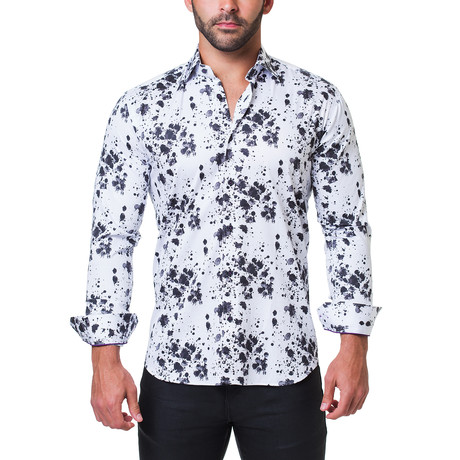 Fibonacci Splash Dress Shirt // Black (S)