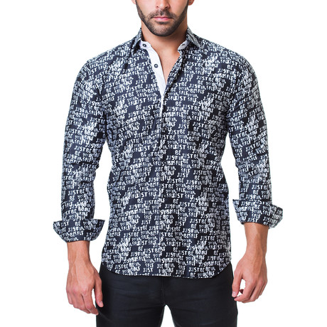 Fibonacci Dress Shirt // Beyourself Black (S)