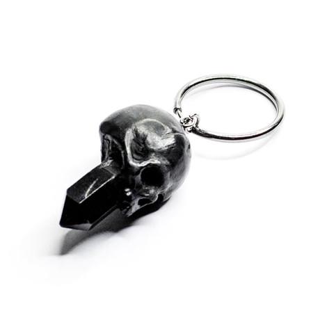 Skull + Crystal Earring