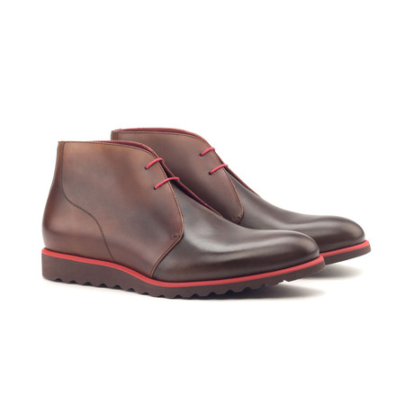 Chukka Boot // Med Brown + Dark Brown Painted Calf (Euro: 40)