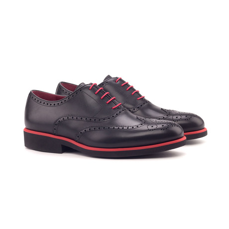 Full Brogue // Black Painted Calf (Euro: 40)