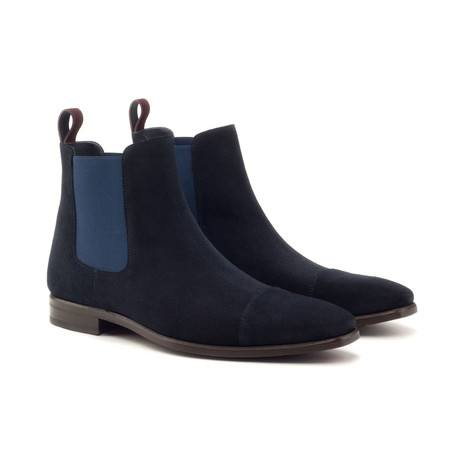 Chelsea Boot // Classic Navy + Burgundy Lux Suede (Euro: 40)