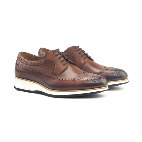 Longwing Blucher Burnishing // Med Brown Painted Calf (Euro: 40)