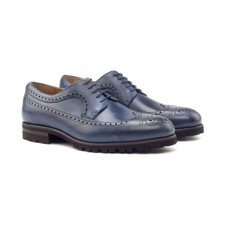 Longwing Blucher // Navy Painted Calf + Navy Full Grain (Euro: 40)