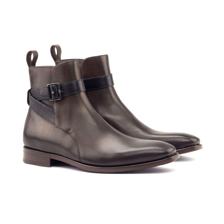 Jodhpur Boot Burnishing // Dark Brown Painted Calf + Navy Full Grain (Euro: 40)