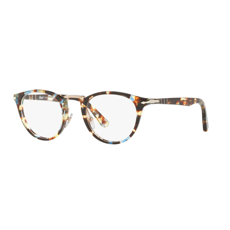 5208b4aaf8326 Persol    Acetate Eyeglass Frames    Havana Azure (49mm) - Luxury ...