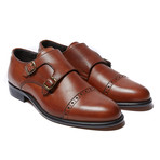 Toe Cap Monk Strap Brown (Euro: 40)