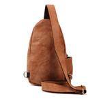 Cross Zipper Waist Bag // Brown