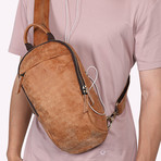 Single Zipper Waist Bag // Brown