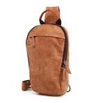 Single Zipper Waist Bag // Brown