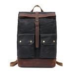 Single Buckle Backpack // Black