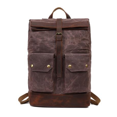 Single Buckle Backpack // Cof