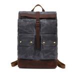 Single Buckle Backpack // Dark Gray
