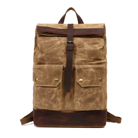 Single Buckle Backpack // Khaki