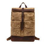 Single Buckle Backpack // Khaki