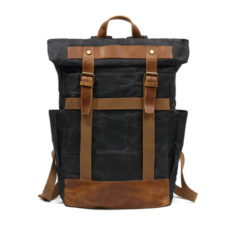 Double Buckle Backpack // Black