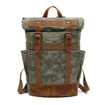 Double Buckle Backpack // Green