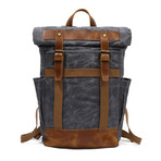 Double Buckle Backpack // Gray