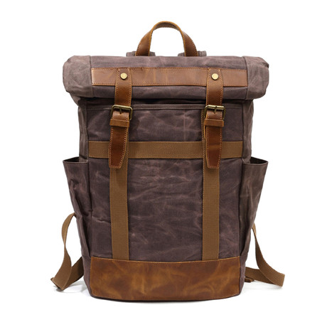 Double Buckle Backpack // Cof