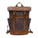 Double Buckle Backpack // Cof