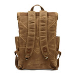 Double Buckle Backpack // Khaki