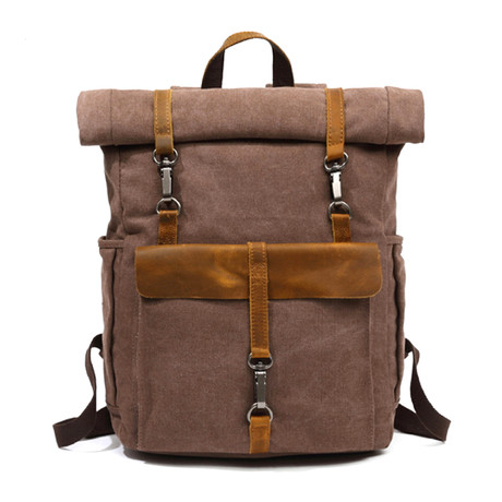 Triple Buckle Backpack // Cof