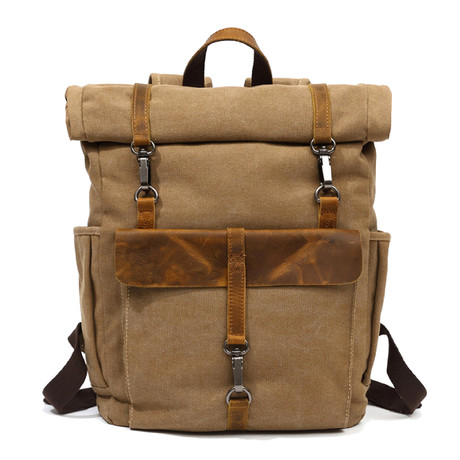 Triple Buckle Backpack // Khaki