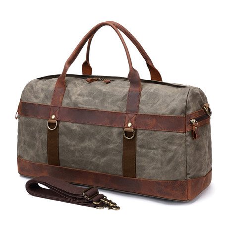 Duffel Bag With Side Zipper // Army Green