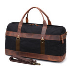 Duffel Bag With Side Zipper // Black
