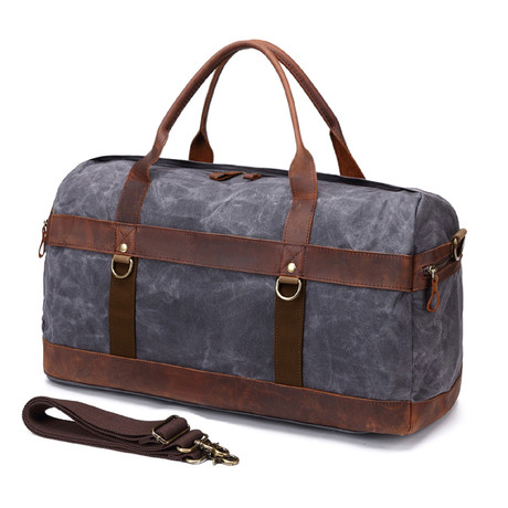 Duffel Bag With Side Zipper  // Gray