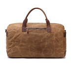 Duffel Bag With Side Zipper // Khaki
