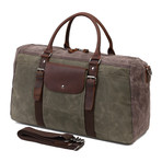 Duffel Bag With Front Pocket // Army Green