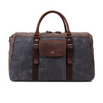 Duffel Bag With Front Pocket // Gray