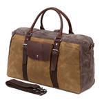 Duffel Bag With Front Pocket // Khaki