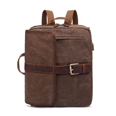 Side Buckle Backpack // Cof
