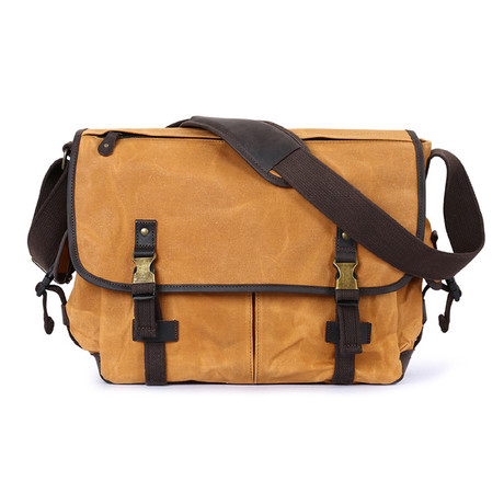 Double Buckle Messenger Bag // Yellow