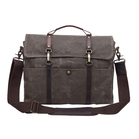 Double Thin Buckle Messenger Bag // Green