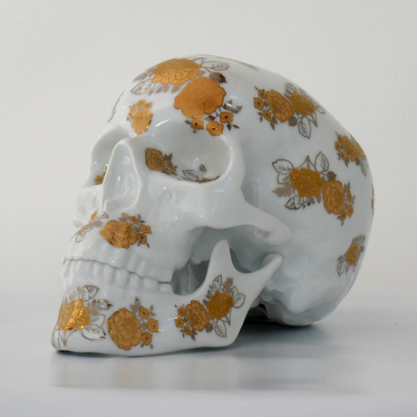 Skull Gold Flowers // NooN