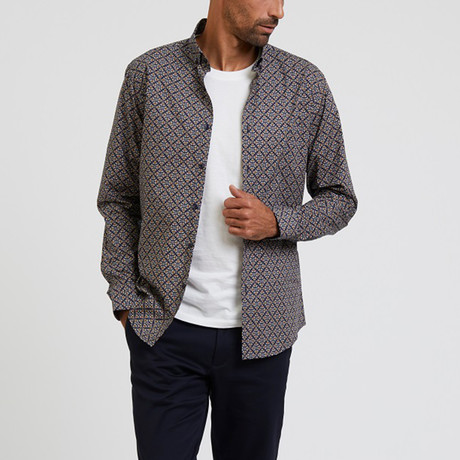 Patterned Shirt // Navy (S)