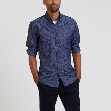 Paisley Print Shirt // Blue (S)